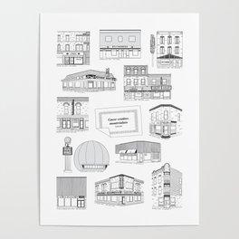 Casse-croûtes légendaires montréalais / Montreal Delis + Poster