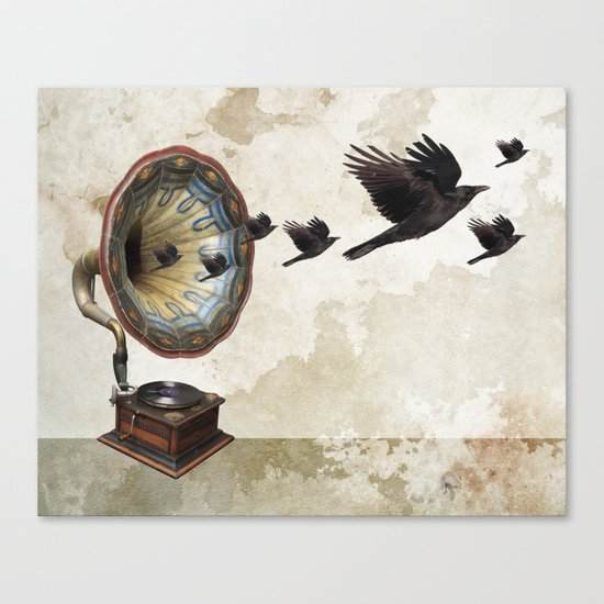 the sound of crows Canvas Print