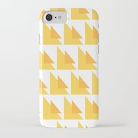 orange pattern iPhone & iPod Cases featuring Orange Pattern by MarianaLage