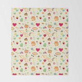 Cake Pattern Throw Blanket