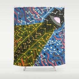 UFO Constellation Shower Curtain