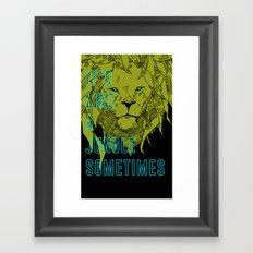 It's Like a Jungle Sometimes... Framed Art Print