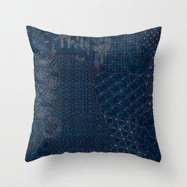 Sashiko - random sampler Throw Pillow