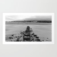 Lighthouse steps Art Print