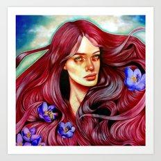 Saffron's Honey Art Print