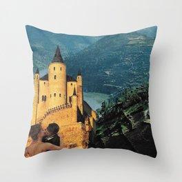 Affair Behind the Castle Throw Pillow