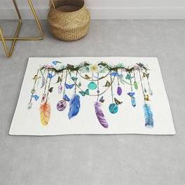 Folkestone Feather, Crystal And Butterfly Spirit Gazer Rug