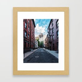 Gay Street, Greenwich Village Framed Art Print