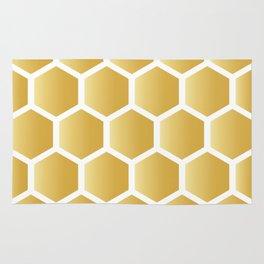 Honeycomb pattern - gold Rug