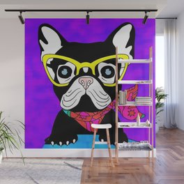 An Intellectual Stylish Pup Named Phoebe Wall Mural