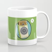 transistor Mugs featuring Transistor Radio Flash Card by paper moon projects