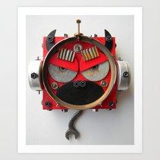 Devil Monkey Bot Art Print