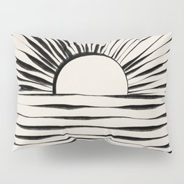 Minimal Sunrise / Sunset Pillow Sham
