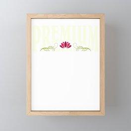 Premium Daughter | Best Daughter | Red lotus flower - self love Framed Mini Art Print