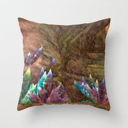 Gem in a cave Throw Pillow