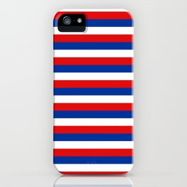 blue white red stripes iPhone Case