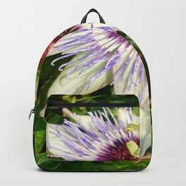 Passiflora Close Up With Garden Background  Backpack