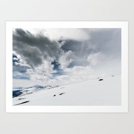 The White Open Art Print