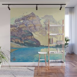 Moraine Lake (Moren) Hiroshi Yoshida Japanese Woodblock Print Wall Mural
