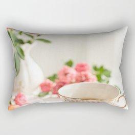Pink Tea Cup Rectangular Pillow