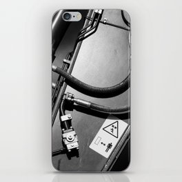 Arm of Power Industrial Hydraulic Digger System iPhone Skin