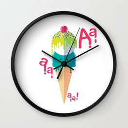 Melting ice cream Wall Clock