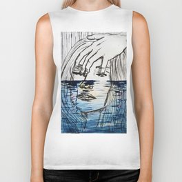 The sea and the sadness Biker Tank