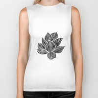 lotus flower Biker Tanks featuring Lotus by MollySkipsey
