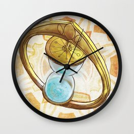 Keepers of Time Comic Hourglass Logo Wall Clock
