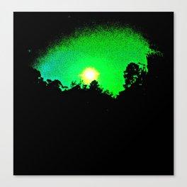 green moon Canvas Print