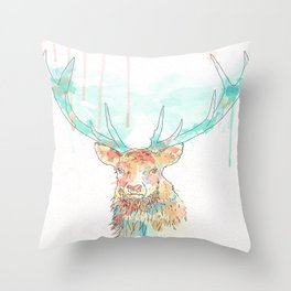 + Watercolor Stag + Throw Pillow