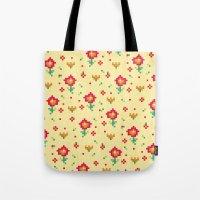 pixel Tote Bags featuring Pixel by Kakel