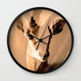 Beautiful and fast - Impala portrait Wall Clock