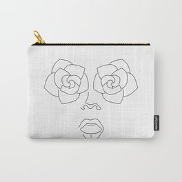 Woman Face Carry-All Pouch