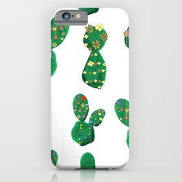 Cactus With Colorful Hawaiian iPhone Case