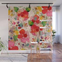 joyful floral decor Wall Mural
