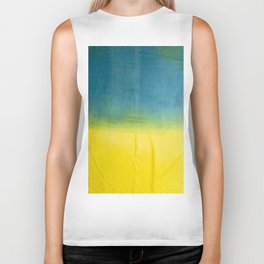 blue yellow ombre Biker Tank