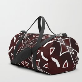Red and White pattern Duffle Bag
