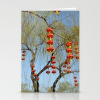 lanterns Stationery Cards featuring Lanterns by Muel