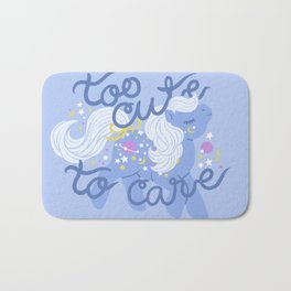 too cute to care Bath Mat