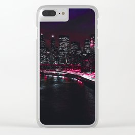 Red New York City Clear iPhone Case