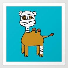 Bandage Camel Art Print