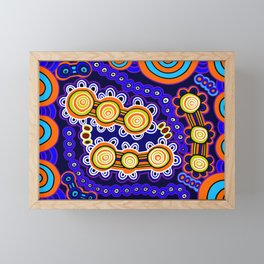 Authentic Aboriginal Art - Yugarabul Gathering Framed Mini Art Print