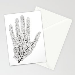 Hand Branches - Black Stationery Cards