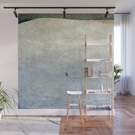Plight of the Lonely Skier, Snowy Alpine Landscape by Cuno Amiet Wall Mural