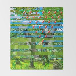 Landscape of My Heart (segment 2) Throw Blanket