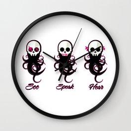 See Speak Hear Wall Clock