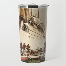Boarding the Ship - vintage photograph Travel Mug