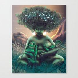 Mother Baobab Canvas Print