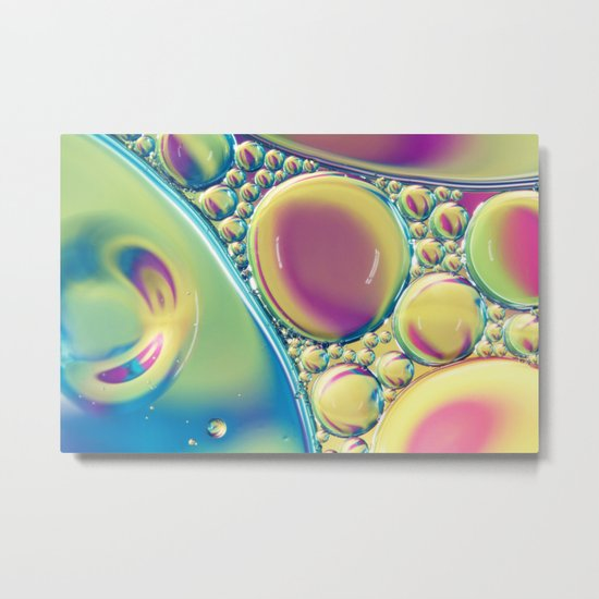 Candy Coloured Oil & Water Drops II Metal Print